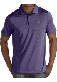 Colorado Rockies Antigua Quest Polo Shirt - Purple