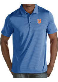 Antigua New York Mets Blue Quest Short Sleeve Polo Shirt