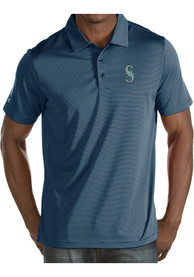 Antigua Seattle Mariners Navy Blue Quest Short Sleeve Polo Shirt