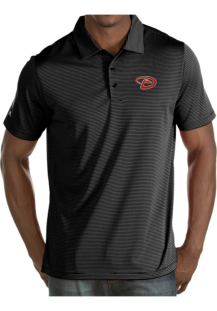 Antigua Arizona Diamondbacks Mens Black Quest Short Sleeve Polo - Image 1