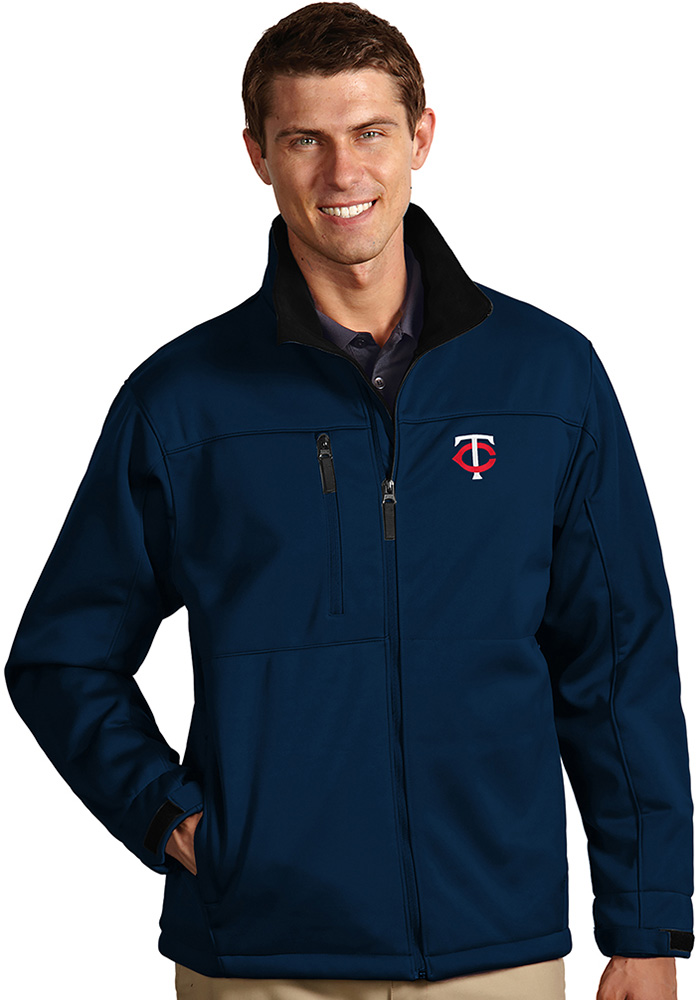 Antigua Minnesota Twins Mens Navy Blue Traverse Heavyweight Jacket - Image 1