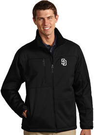 San Diego Padres Antigua Traverse Medium Weight Jacket - Black