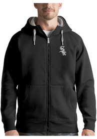 Chicago White Sox Antigua Victory Full Zip Jacket - Black