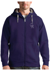 Colorado Rockies Antigua Victory Full Zip Jacket - Purple