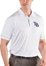 Antigua Tampa Bay Rays White Salute Short Sleeve Polo Shirt