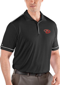 Antigua Arizona Diamondbacks Black Salute Short Sleeve Polo Shirt