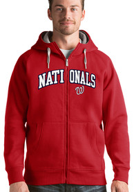 Washington Nationals Antigua Victory Full Zip Jacket - Red
