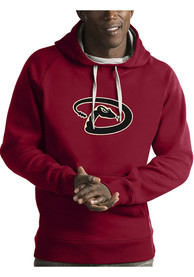 Arizona Diamondbacks Antigua Victory Hooded Sweatshirt - Red
