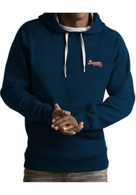 Antigua Atlanta Braves Victory Navy Blue Fashion Hood