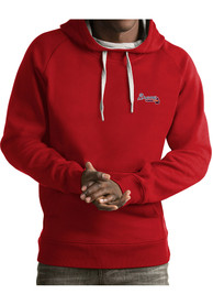 Atlanta Braves Antigua Victory Hooded Sweatshirt - Red