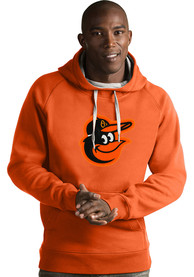 Baltimore Orioles Antigua Victory Hooded Sweatshirt - Orange