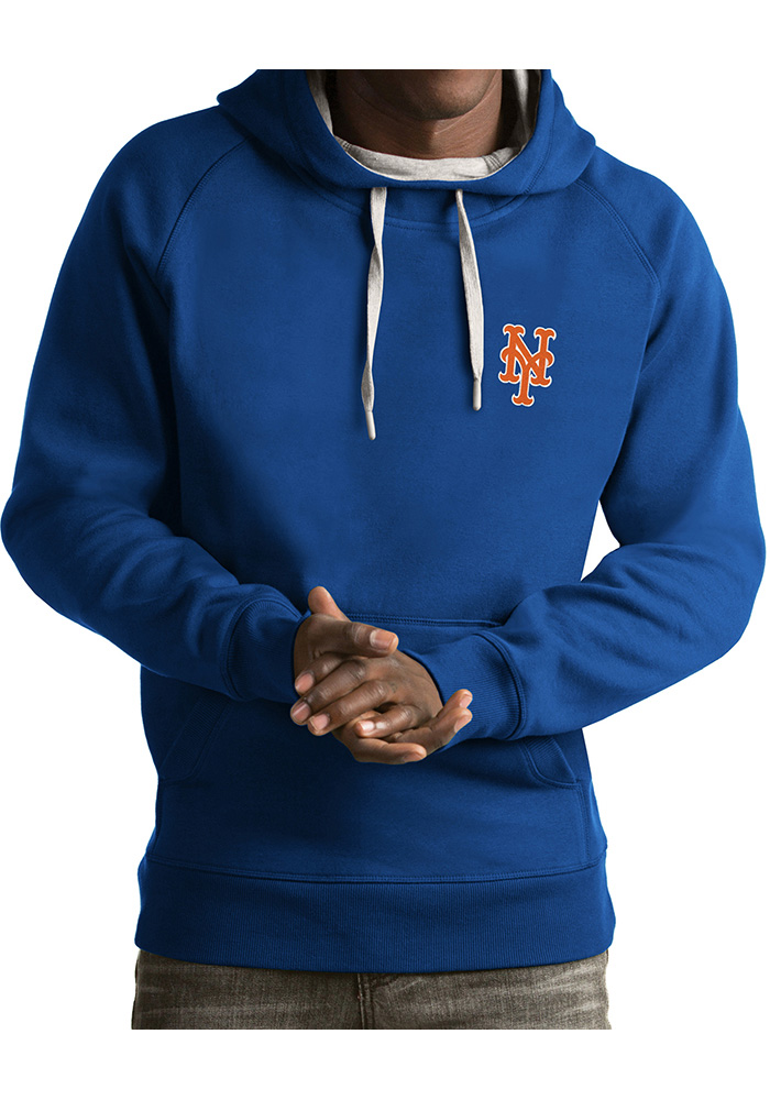 Antigua New York Mets Mens Blue Victory Fashion Hood - Image 1