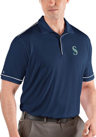 Antigua Seattle Mariners Navy Blue Salute Short Sleeve Polo Shirt