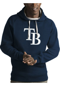Tampa Bay Rays Antigua Victory Hooded Sweatshirt - Navy Blue