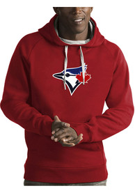 Toronto Blue Jays Antigua Victory Hooded Sweatshirt - Red