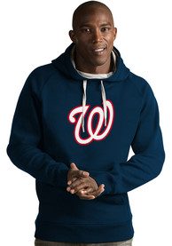 Washington Nationals Antigua Victory Hooded Sweatshirt - Navy Blue