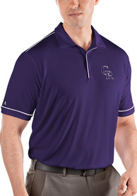 Colorado Rockies Antigua Salute Polo Shirt - Purple