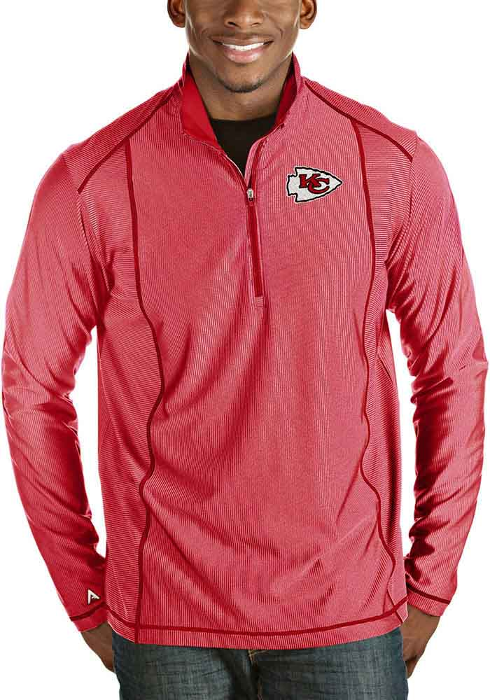 Antigua Kansas City Chiefs Mens Red Tempo Long Sleeve 1/4 Zip Pullover - Image 1