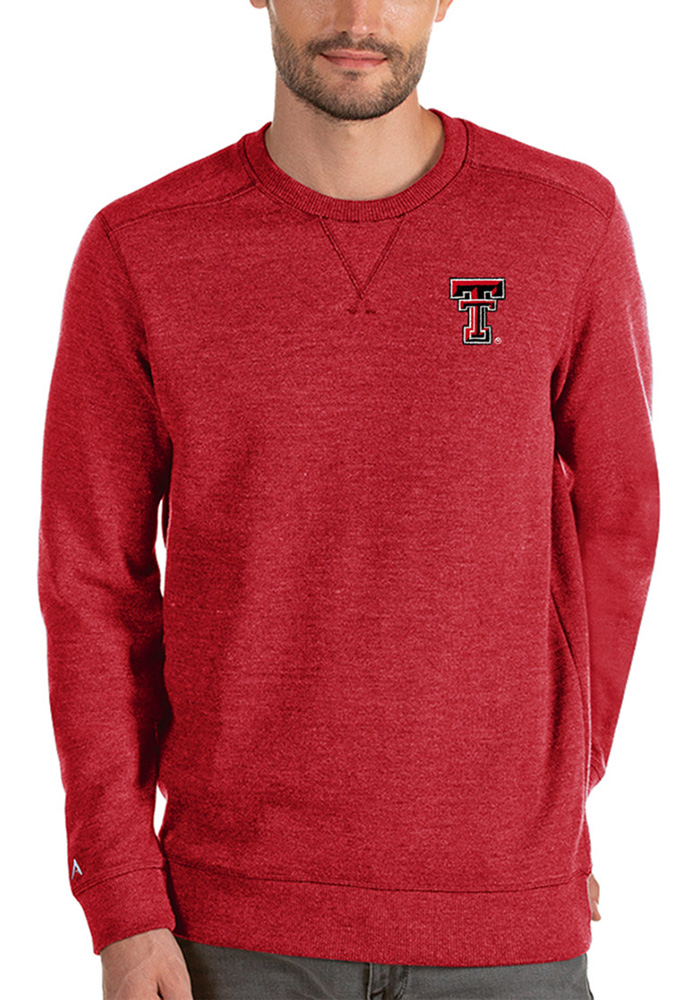 Antigua Texas Tech Red Raiders Mens Red Defender Sweater Long Sleeve Sweater - Image 1