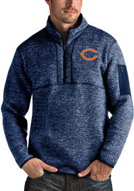 Chicago Bears Antigua Fortune 1/4 Zip Pullover - Navy Blue
