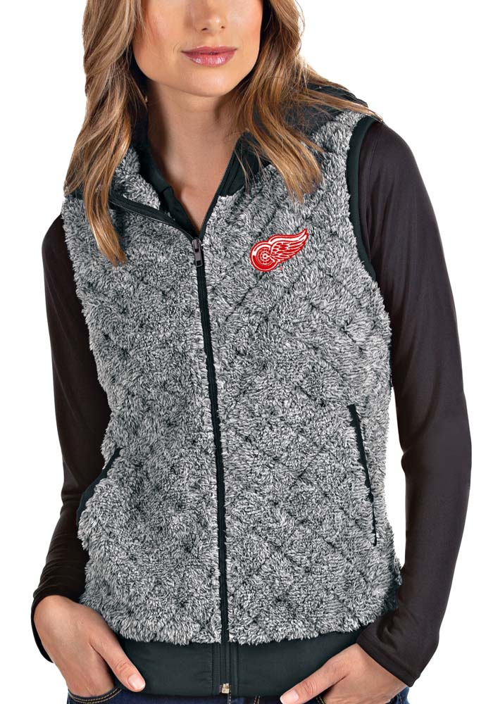 Antigua Detroit Red Wings Womens Grey Fame Vest - Image 1