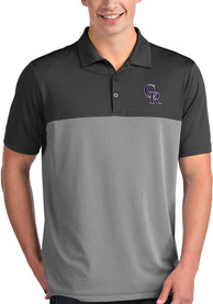 Colorado Rockies Antigua Venture Polo Shirt - Grey