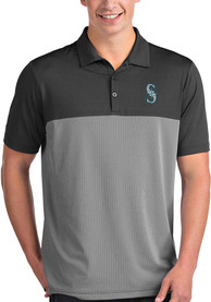 Antigua Seattle Mariners Grey Venture Short Sleeve Polo Shirt