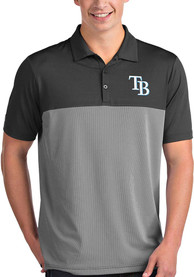Antigua Tampa Bay Rays Grey Venture Short Sleeve Polo Shirt