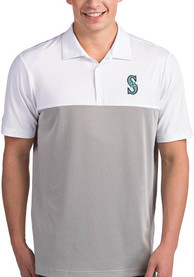 Antigua Seattle Mariners White Venture Short Sleeve Polo Shirt