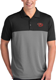 Antigua Arizona Diamondbacks Black Venture Short Sleeve Polo Shirt