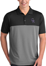 Colorado Rockies Antigua Venture Polo Shirt - Black