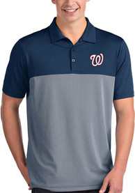 Washington Nationals Antigua Venture Polo Shirt - Navy Blue
