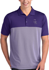 Colorado Rockies Antigua Venture Polo Shirt - Purple
