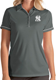 Antigua New York Yankees Womens Grey Salute Polo