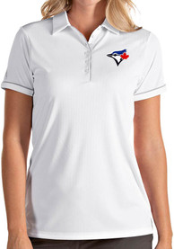 Antigua Toronto Blue Jays Womens White Salute Polo
