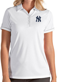 Antigua New York Yankees Womens White Salute Polo
