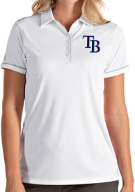 Antigua Tampa Bay Rays Womens White Salute Polo