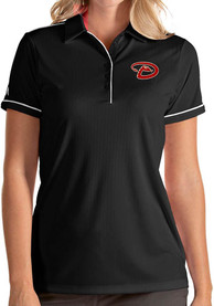 Arizona Diamondbacks Womens Antigua Salute Polo Shirt - Black