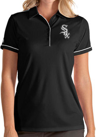 Chicago White Sox Womens Antigua Salute Polo Shirt - Black