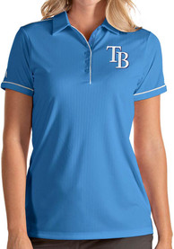 Tampa Bay Rays Womens Antigua Salute Polo Shirt - Light Blue