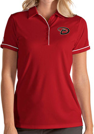 Antigua Arizona Diamondbacks Womens Red Salute Polo