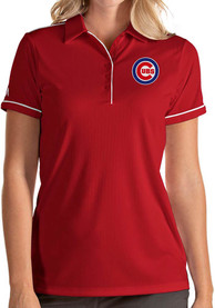 Antigua Chicago Cubs Womens Red Salute Polo