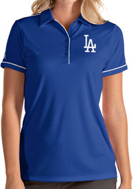 Los Angeles Dodgers Womens Antigua Salute Polo Shirt - Blue