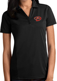 Arizona Diamondbacks Womens Antigua Tribute Polo Shirt - Black