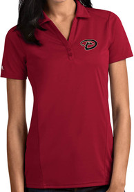Arizona Diamondbacks Womens Antigua Tribute Polo Shirt - Cardinal
