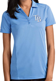 Tampa Bay Rays Womens Antigua Tribute Polo Shirt - Blue