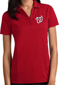 Washington Nationals Womens Antigua Tribute Polo Shirt - Red