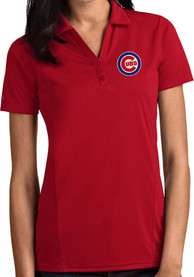 Chicago Cubs Womens Antigua Tribute Polo Shirt - Red