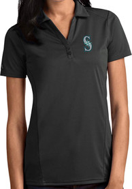 Seattle Mariners Womens Antigua Tribute Polo Shirt - Grey
