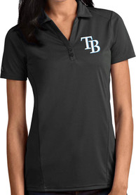 Tampa Bay Rays Womens Antigua Tribute Polo Shirt - Grey